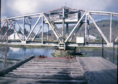 Rotating Railroad Bridge. Raymond, WA