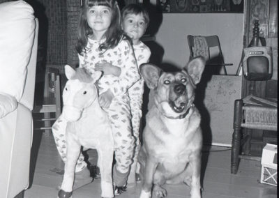 Brownie Hawkeye Flash image. My dog was terrified of that Barbie pony.