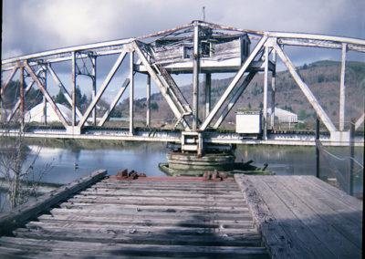 Rotating Railroad Bridge. Raymond, WA